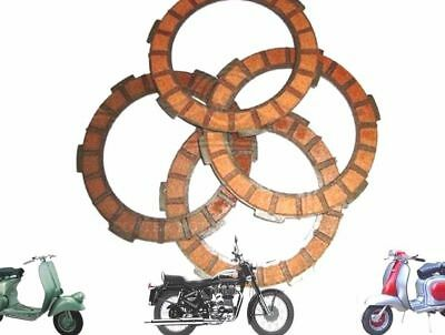 New Lambretta Gp Li Tv Sx Clutch Plates Cork Set Of 4 Units @au