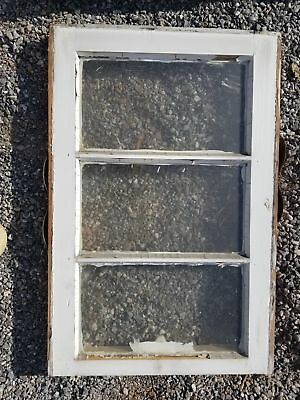 Sash window small 3 pane salvaged from old home