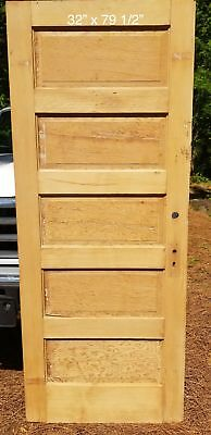 "32"" x 79 1/2"" Raised 5 panel pine door"