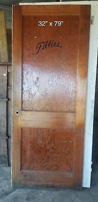 "32"" x 79"" Bedroom door two panel craftsman bungalow door"