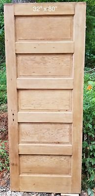 "32"" x 80"" Raised 5 panel pine door"