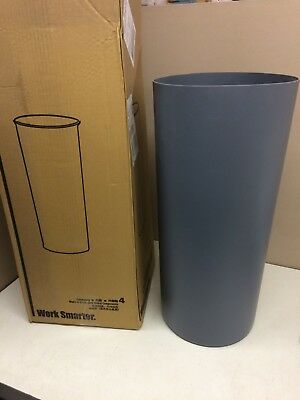 CASE of 4 NEW Rubbermaid 3550 Gray Rigid Trash Can Liner 12 gal for 15 gal Can