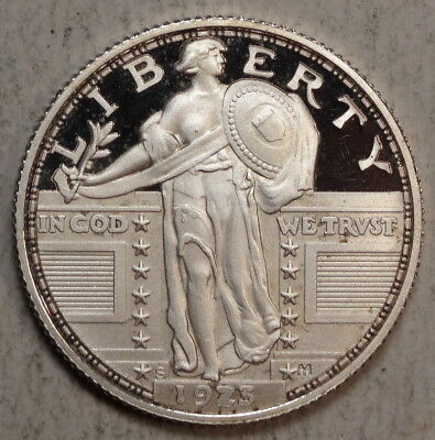 1923-S Standing Liberty Quarter, Proof Restrike in Silver, Properly Marked  -08