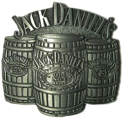 Jack Daniels Antique Silver Old No.7 Western Cowboy Barrels Belt Buckle