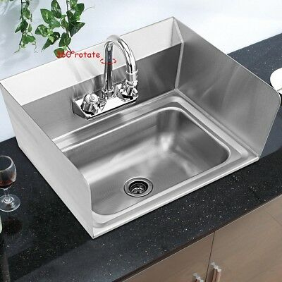 NSF Stainless Steel Hand Washing Sink with Faucet