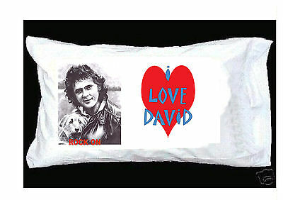 I Love David Essex Pillowcase + Red Heart