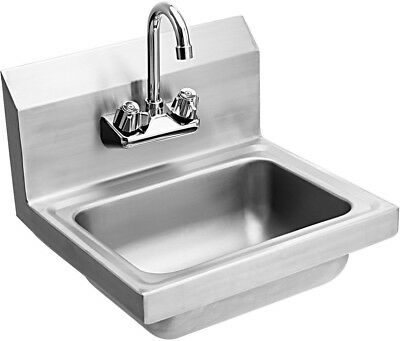 Stainless Steel Wall Mount Washing Sink Basin with Faucet