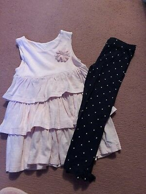 Girls Top And Leggings Set Aged 3/4 (Mothercare)