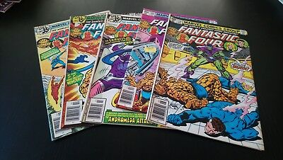 Fantastic Four #202 to #206 Original Marvel Comics (1979) First Nova Corps