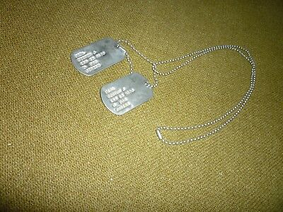 Genuine US Army Dog Tags, Likely WW II.  Excellent Condition