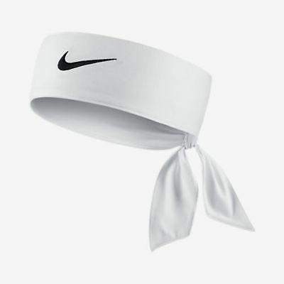 Nike Swoosh Dri-Fit White Unisex Head-Tie Headband New Men Ladies Womens NWT