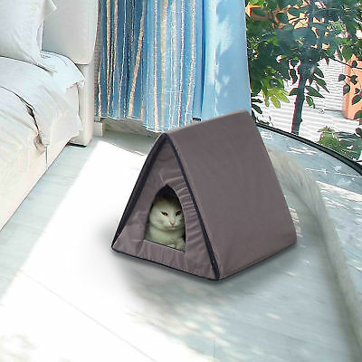 PawHut Heated Kitty House Outdoor Pet Cat Bed Cage Warm Cando Water resistant