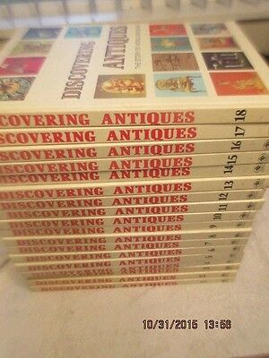 Discovering Antiques 18 Volume Book Set volumes 1-18 1972 Greystone Press Exc
