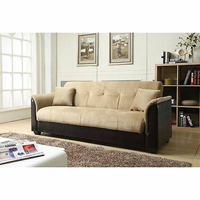 Futon Sofa Bed Loveseat Couch Full Sleeper Lounger Convertible Storage Furniture