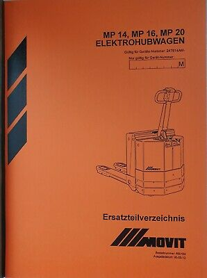 Spare Parts Catalog BT Movit Elektrohubwagen MP14-MP16-MP20 247614AM