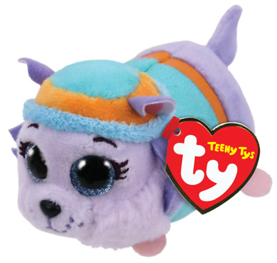 "Ty Beanie Boos 4"" Teeny Tys Paw Patrol EVEREST w/ Ty Heart Tags MWMT's Stackable"
