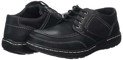 NEW IN BOX: Size 6 Hush Puppies Volley Victory black leather derby shoes; EU 40