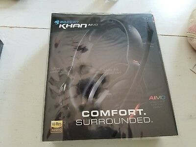 Roccat Khan AIMO 7.1 Black Gaming Headset (New)