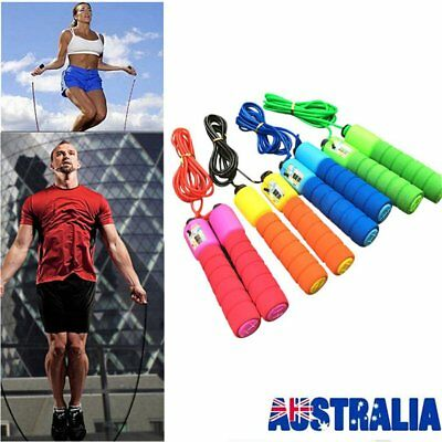 Adjustable Skipping Jump Rope Digital Counter Jumping Exercise For Kid/Adult BU