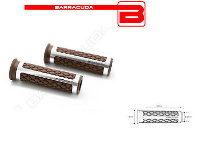 BARRACUDA MANOPOLE CLASSIC ARGENTO MARRONE 120mm DUCATI Monster S4Rs