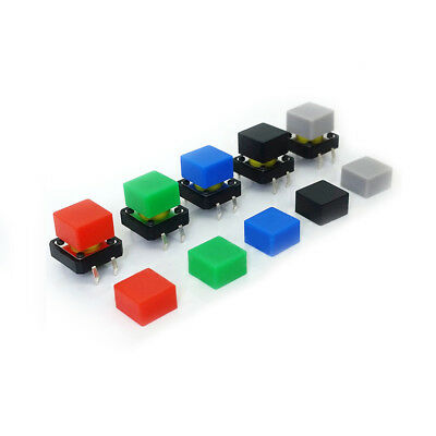 7-Color 3mmx3mm Tact Tactile Push Button Switch Cap Square for 6x6 Series Switch
