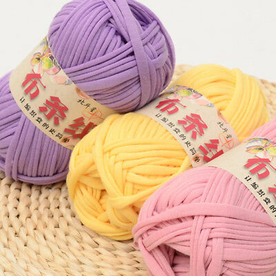 100g DIY Crochet Cloth Carpets Yarn Cotton Wool hand-knitted Thick Knit Blanket