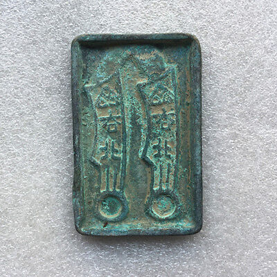 Chinese bronze Antique collected Warring States ancient Knife Coins mold statue