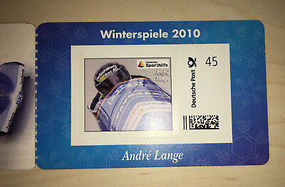 Portocard Marke Individuell Olympische Winterspiele 2010 Bob - André Lange