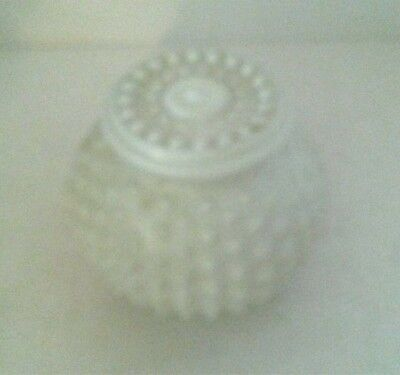 "Vintage Hobnail Light Shade White Ceiling Wall Mount Replacement Small 3"" Fitter"