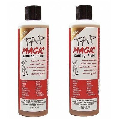 2-pack Tap Magic Cutting Oil 16 oz Bottles Drilling Tapping Threading All Metals