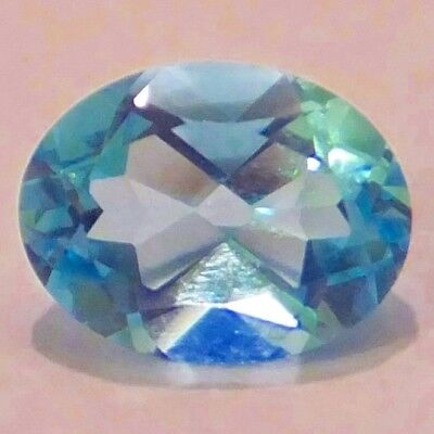 NATURAL  OVAL-CUT  BLUE TOPAZ LOOSE GEMSTONE  9.1 x 6.1 mm. CHARMING TOPAZ