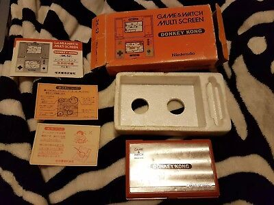 Nintendo game and watch multiscreen boxed donkey kong 1 with paperwork