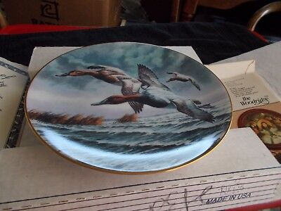 """W. S. George Ltd Ed Federal Duck Stamp Plate Coll 4th Issue 1991 """"Canvasbacks"""""""