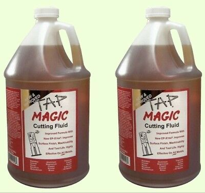 2 Gallons TAP MAGIC CUTTING OIL Drilling Tapping Threading Fluid for All Metals