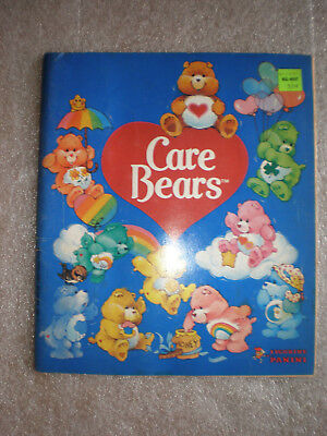 Care Bear Panini Sticker Book With All Stickers in Place Vintage Antique 1985-86