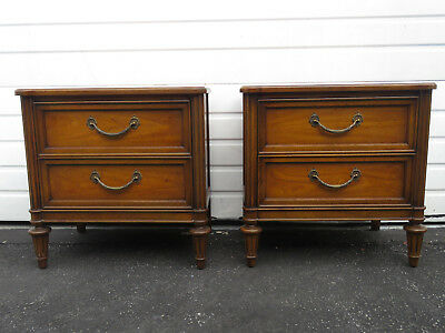 Pair of French Nightstands End Side Tables by Basic Witz 9054