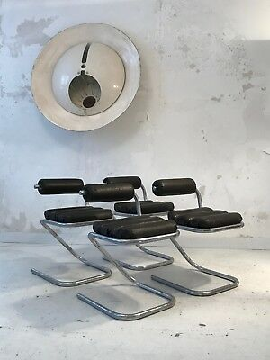 1970 4 Chaises Sculpture Bauhaus Space-Age Memphis
