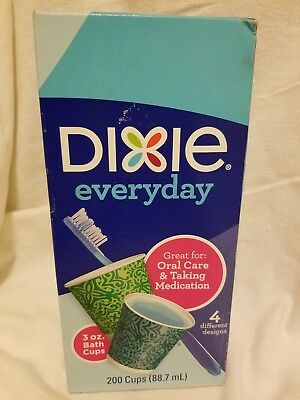 Dixie 43900 Everyday Disposable Bath Cup, 3 Oz, Assorted Design, 200-Pack