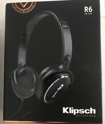 Klipsch Reference R6i Black Headphones 3-button