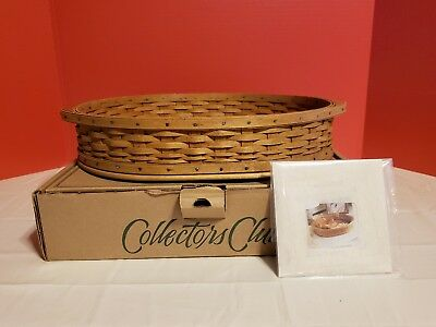 Longaberger 2004 Collectors Club Tea Tray Basket