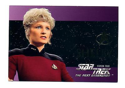 Skybox 1996 Star Trek The Next Generation Season Four (4) Foil Embossed Card S24