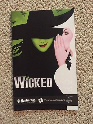 Wicked Playbill- Tour Cleveland November 2017, Mary Kate Morrissey