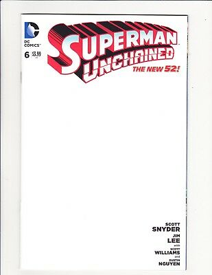 Superman Unchained #6 Blank Sketch Variant Scott Snyder Jim Lee Get It Signed!