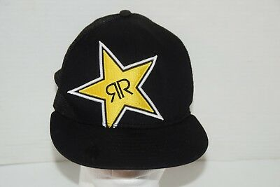 477b59c3e88 ... 50% off new era 9fifty rockstar energy baseball trucker hat cap  snapback black yellow eda27 ...