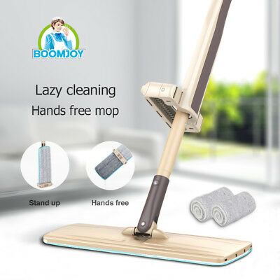 Boomjoy hands-free microfiber flat 360 rotation mop sweeper broom