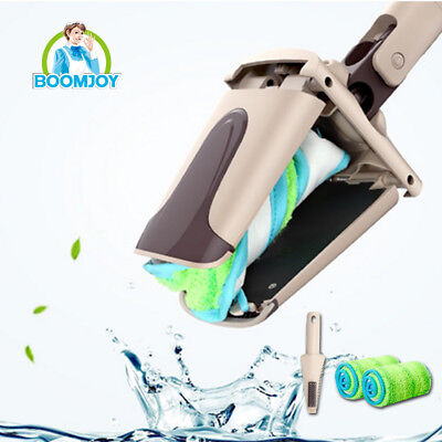 Boomjoy hands free twist floor cleaning mop/ 360 swivel microfiber flat mop