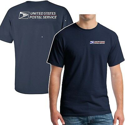 Usps Postal T-Shirt 2 Color  On Front & Back Sizes S - 5X Buy2 Get 1 Free