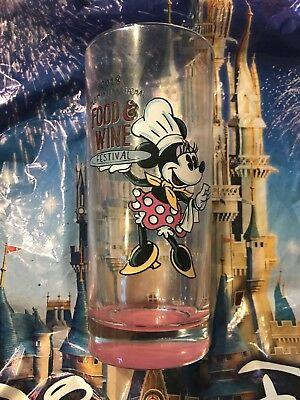 Disney Epcot Food and Wine Festival 2018 Passholder Glass Cup Minnie Mouse