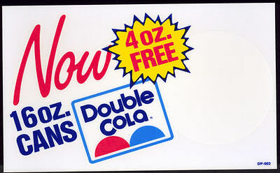 1970's 16 0Z Double Cola Decal – New Old Stock