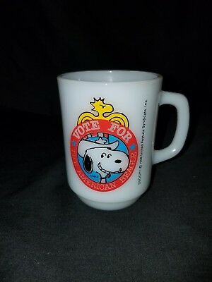"""1980 Collector Series No.2  """"Vote For the American Beagle"""" Snoopy Coffee Mug"""